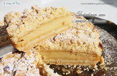 Sbrisolona cake with lemon cream - Sbrisolona con crema al limone