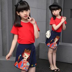 $24.97 (Buy here: https://alitems.com/g/1e8d114494ebda23ff8b16525dc3e8/?i=5&ulp=https%3A%2F%2Fwww.aliexpress.com%2Fitem%2F4-5-6-7-9-10-14-18-Child-Summer-Clothing-Set-Teenage-Cotton-Short-Sleeved%2F32687787866.html ) 4.5.6.7.9.10.14-18 Child Summer Clothing Set Teenage Cotton Short-Sleeved T-Shirt + Half Pants 2pcs Sets Girl Casual Sport Suits for just $24.97