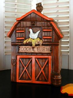 Cookie Barn Cookie Jar made in USA by Treasure Craft