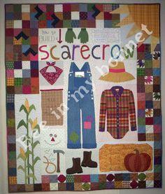 Bee In My Bonnet Co. Patterns: Scarecrow. Ideas para sacar apliques bonitos.