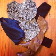 Croft Top from Dagg & Stacey / Jeans from Naked and Famous / Scarf fromJJ Louis / Made in Canada / All available at Frock & Dilettante Winter Fashion 2014, Frocks, Naked, Peplum, Fall Winter, Take That, Canada, Jeans, How To Make