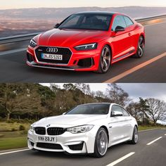 Photo Comparison: BMW M4 Competition Package vs Audi RS5 - http://www.bmwblog.com/2017/03/27/photo-comparison-bmw-m4-competition-package-vs-audi-rs5/