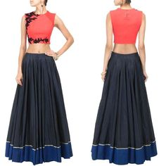 Featuring a pink raw silk fabric crop top with black floral embroidery in front and net detailing on shoulders.  Title : Pink crop top with black floral detailing. Size : Free Color : Pink Fabric : Raw silk Type : Embroidered Occasion : Festive, Wedding, Ceremony, Party Neck Type : Round Neck Sleeve Type : Sleeveless  Sale Price : 3250 INR Only ! #Booknow  CASH ON DELIVERY Available In India ! World Wide Shipping ! ✈ For orders / enquiry  WhatsApp @ +91-9054562754 Or I..