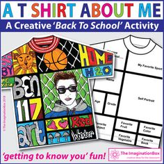 All About Me Back to School T Shirt art & writing activity | TpT