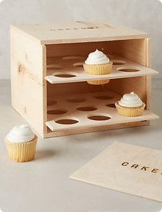 diy cupcake carrier, fully enclosed box style with door includes free plans, holds 18 regular cupcakes Wood Projects, Woodworking Projects, Projects To Try, Woodworking Bench, Sewing Projects, Assiette Design, Wood Crafts, Diy And Crafts, Cupcake Carrier