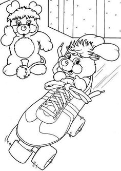 Vintage Popples coloring page