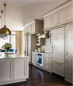 My Favorite Sherwin Williams Paint Colors - Evolution of Style Taupe Kitchen Cabinets, Kitchen Cabinet Colors, Grey Cabinets, Painting Kitchen Cabinets, Repainted Kitchen Cabinets, Pantry Cabinets, Kitchen Counters, Upper Cabinets, Design Blogs