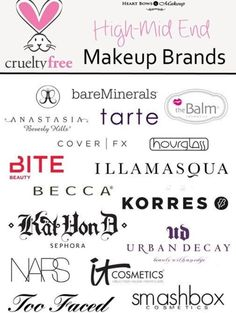 Higher makeup brands that don't test on animals!!