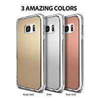 Galaxy S7 Edge ケース, [Ringke] FUSION Mirrorミラーケース クリアPCケースfor Galaxy S7 Edgeカバー (FUSION MIRROR - SILVER)