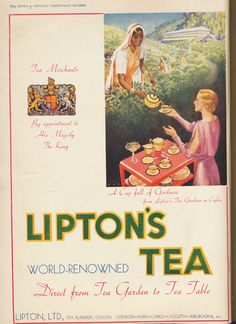 An advertisement for Lipton's Tea, published in the Times of Ceylon Christmas Number, 1935.