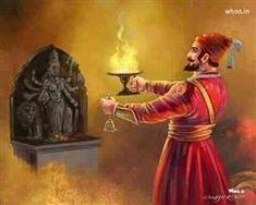 The image of the Indian King Chhatrapati Shivaji Indian Art Paintings, Original Paintings, Shivaji Maharaj Quotes, Shivaji Maharaj Painting, Mahadev Hd Wallpaper, Tiger Artwork, Shiva Photos, Shivaji Maharaj Hd Wallpaper, Lord Ganesha Paintings