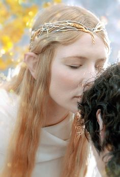 """stormbornvalkyrie: """"  ✩ Galadriel, most beautiful of all the house of Finwë; her hair was lit with gold as though it had caught in a mesh the radiance of Laurelin. """""""