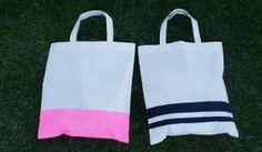 DIY: płócienna torba na plażę - DIY beach bag