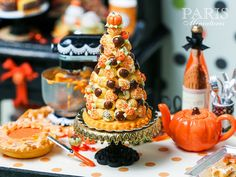 Hey, I found this really awesome Etsy listing at https://www.etsy.com/listing/207502677/french-croquembouche-for-autumn-fall