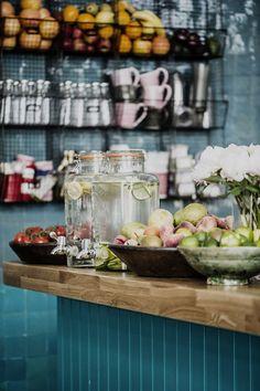 Open Plan in Farm Girl Cafe, Portobello Road by Beata Heuman Ltd on Interior Design Companies, Best Interior Design, Interior Styling, Interior Ideas, Portobello, Pizzeria Design, Beata Heuman, Nutrition Club, Pubs And Restaurants