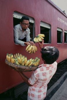 India, Steve McCurry: used to have contests to see who could get the most bananas for one rupee. I think twenty was the best.