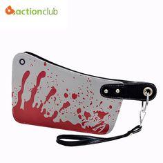 2016 new fashion women's handbags cleaver clutch bags blood choppers purse handbag creative phone package women leather bag