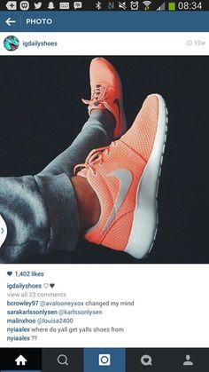 shoes nike nike roshe run roshe runs orange grey white trainers kicks nike running shoes