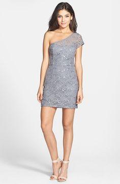#Hailey Logan             #Dresses                  #Hailey #Logan #One-Shoulder #Lace #Body-Con #Dress #(Juniors) #Gunmetal #Large                         Hailey Logan One-Shoulder Lace Body-Con Dress (Juniors) Gunmetal Large                                  http://www.snaproduct.com/product.aspx?PID=5393024