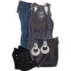 Outfit Urbano con Jeans y tonos Plomo. Ideal para MOON Shadows de DERMEYES