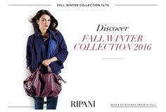 Are you ready to discover your new must-have? Soft leathers, refined texture like the ARIA model are waiting for you with the Fall Winter 2016 Collection, now available on http://www.ripani.com/en/content/37-fall-winter-2016 Don't miss it! #fallwinter‬ #newcollection‬ #leather‬ #bags #fashion‬