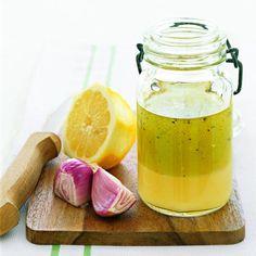 6 Healthy Homemade Salad Dressings - Balsamic, Olive Oil, & Italian Seasonings; Garlic, Canola Oil & Apple Cider Vinegar; Strawberry Vinaigrette; Basil Vinaigrette; Almond Oil; Avocado Oil