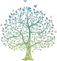 Princess Nursery-Tree Stencil - created by Severinka_ Tree Stencil, Stencils, Tree Of Life Images, Family Tree Designs, Signature Book, Princess Nursery, Bodhi Tree, Tree Graphic, Spring Tree