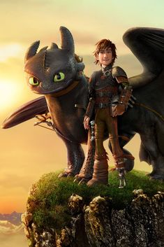 How to Train Your Dragon: The Hidden World - As Hiccup fulfills his dream of creating a peaceful dragon utopia, Toothless' discovery of. Dragon 2, Toothless Dragon, Hiccup And Toothless, Dragon Party, Httyd Dragons, Dreamworks Dragons, Cute Dragons, Dreamworks Animation, Animation Movies