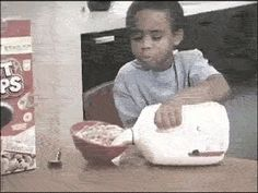 The kid who just wants cereal.