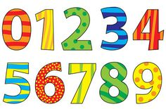 Set of cartoon numbers / vectors illustration for children - Compre este vetor e explore vetores semelhantes no Adobe Stock Alphabet Letters To Print, Alphabet And Numbers, Spring Cartoon, Number Flashcards, Free Printable Numbers, Number Sets, Doodle Lettering, Iphone Background Wallpaper, Teaching Aids