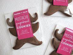 Fancy - Gingerbread Mustache Cookies