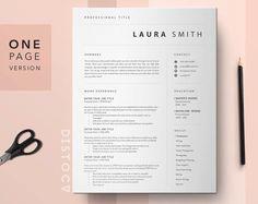 Curriculum Vitae Template | Simple Resume Template One Page Resume Template Professional Cv Template Word | Clean Resume Template 1 Page #resume #cv #Template #ProfessionalCv