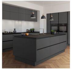 Grey Kitchen Designs, Luxury Kitchen Design, Kitchen Room Design, Kitchen Cabinet Design, Home Decor Kitchen, Interior Design Kitchen, Contemporary Kitchen Design, Interior Modern, Kitchen Furniture