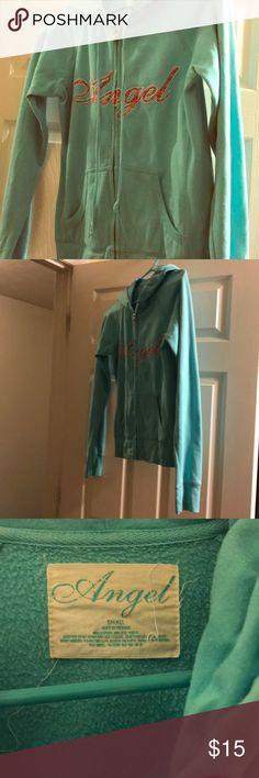 Victoria's Secret Angel sweatshirt Teal angel sweatshirt. Smoke free home. Victoria's Secret Jackets & Coats