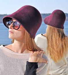 Cloche Damen/Hut/Hat/Women/Filzhut elegant Trend von NadaQuenzel