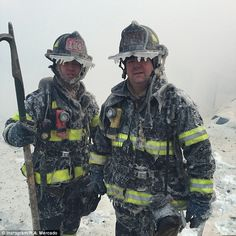 Brave FDNY firefighters battle massive 7 alarm blaze in Brooklyn in brutal ice cold weather. Firefighter Paramedic, Volunteer Firefighter, Firefighters Wife, Firemen, Fire Dept, Fire Department, Firefighter Pictures, Proud Wife, Fire Apparatus