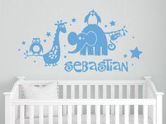 Trend Lustige Tiere f rs Kinderzimmer Idividualisierbar mit dem Namen Ihres Kindes