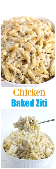 Ground Chicken is overlooked as a great way to make EASY DELICIOUS dinners quickly, this meal can be made in 30 minutes. The perfect meal anytime (italian pasta recipes with chicken) Baked Ziti With Chicken, Canned Chicken, Chicken Sauce, Chicken Ziti, Top Recipes, Cooking Recipes, Recipies, Bacon Recipes, Meal Recipes