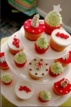ricetta e ricette: Cupcakes di Natale