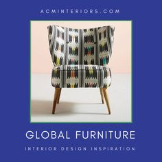 Here, furniture that's perfect for rooms within the global interior design style—from chairs, coffee tables & credenzas to bookshelves, desks & more. Global Home, Global Style, Interior Design Services, Interior Design Inspiration, Airbnb Design, Couch Furniture, Bed Styling, Service Design, Design Projects