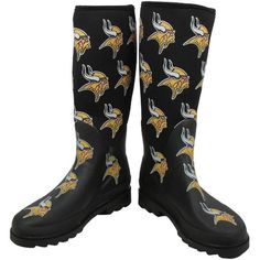 Minnesota Vikings Historic Logo Women's Black Enthusiast Boots, Sale: $17.99 -  You Save: $77.00