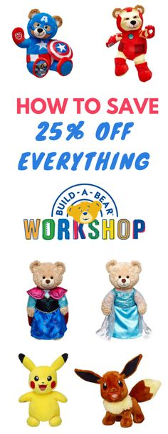 Do the kids love Build-A-Bear? Find out how you can save 25% off everything right here!