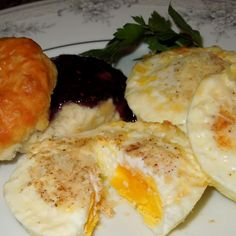 Baked French Eggs - low carb - so creamy and flavorful! Yeah! for something different with eggs! LOL!