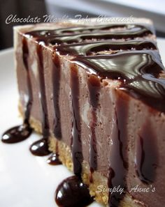 Chocolate Marble Tofu Cheesecake by simply anne, via Flickr