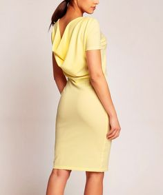 Look at this #zulilyfind! Yellow Drape-Back Dress by Karen #zulilyfinds
