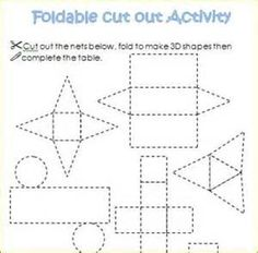 3-d foldable shapes - Yahoo Image Search Results
