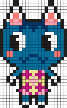 Animal Crossing Rosie Perler Bead Pattern / Bead Sprite