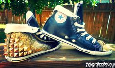 Leather Chuck Taylor Low-profile Studded Spiked Converse