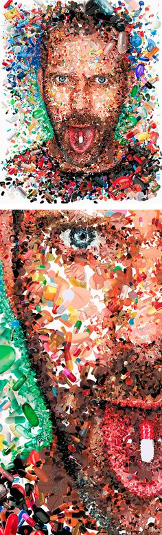Awesome Mosaic Illustrations by Charis Tsevis DR. HOUSE