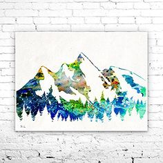 Mountain Watercolor Painting art Print,Watercolor poster,Handmade poster,nature art,Home Decor, Illustration print,Mountain print, art print. Mountain Watercolor Painting art Print,Watercolor poster,Handmade poster,nature art,Home Decor, Illustration print,Mountain print, art print, My prints are made in my own art studio by me, using Epson Pigment Inks, which are tested and guaranteed not to fade for at least 100+ years and fine art watercolor paper. I use Epson best wide format…